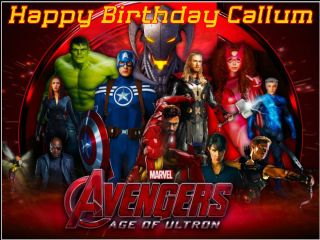 Stupendous A4 Marvel Avengers 2 Age Of Ultron Edible Icing Or Wafer Birthday Funny Birthday Cards Online Elaedamsfinfo